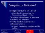 delegation or abdication