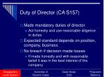 duty of director ca s157