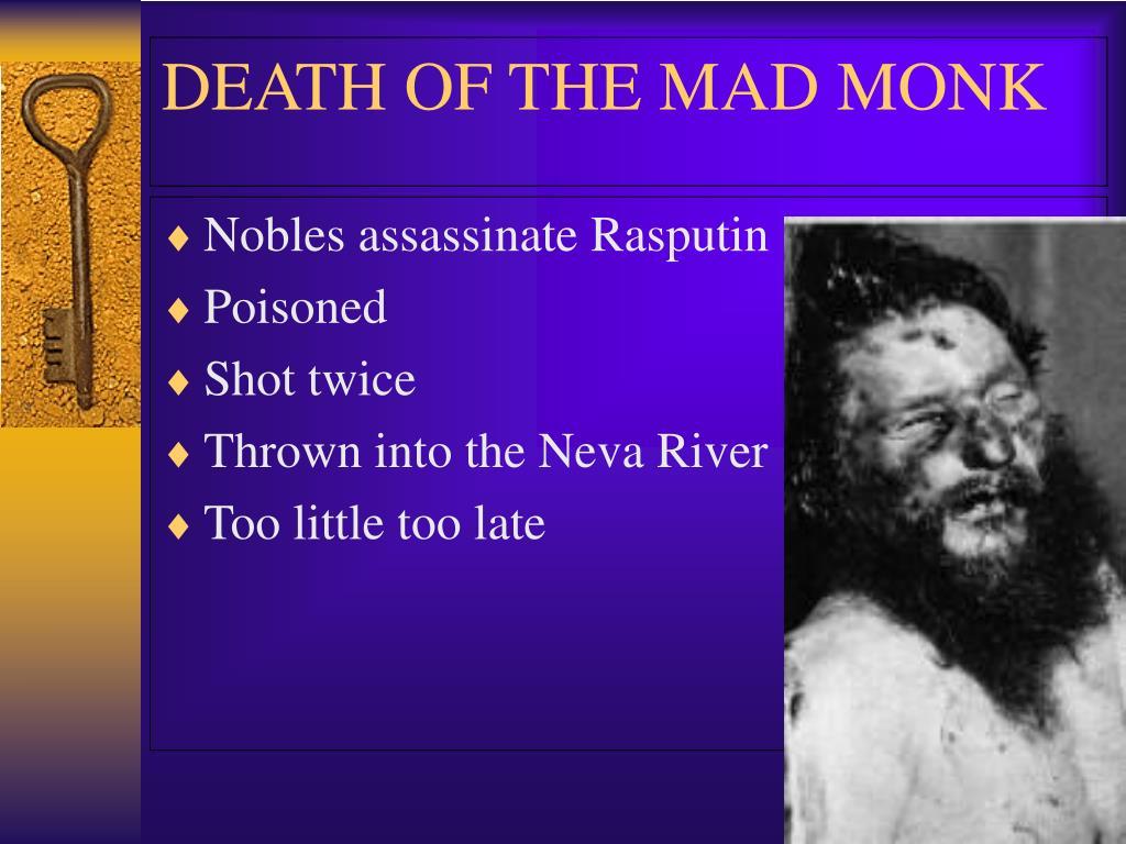 Nobles assassinate Rasputin
