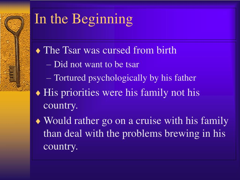 The Tsar was cursed from birth