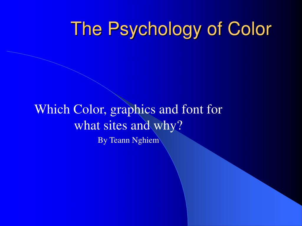 the psychology of color l.