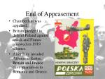 end of appeasement