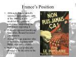 france s position