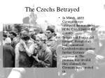 the czechs betrayed