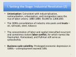 i setting the stage industrial revolution 2