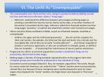 vi the unfit as unemployable