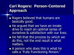 carl rogers person centered approach