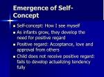 emergence of self concept