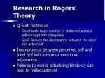 research in rogers theory