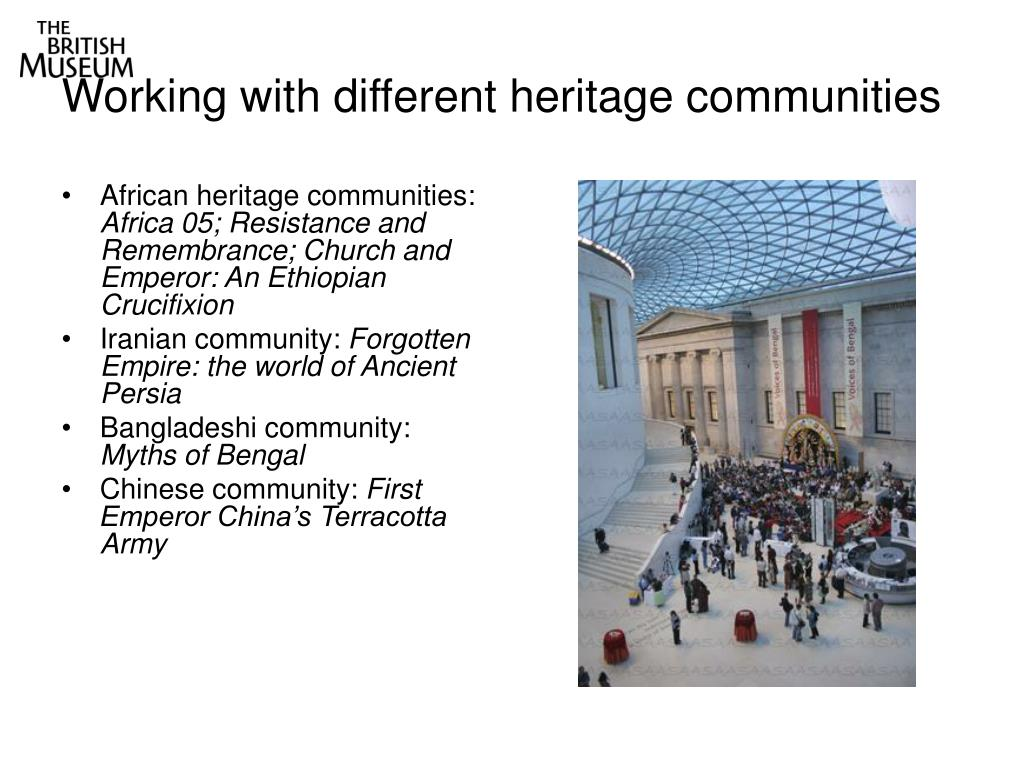 Working with different heritage communities