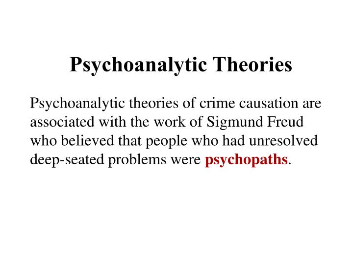 freud and crime