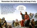 remember the sabbath day and keep it holy