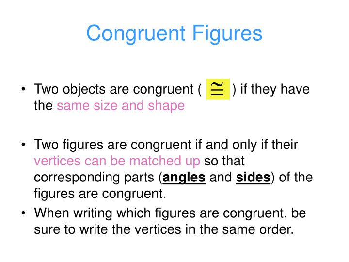 Congruent figures