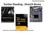 further reading directx books