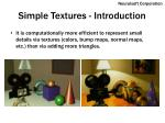 simple textures introduction