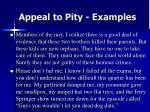 appeal to pity examples