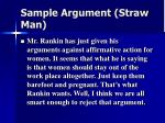 sample argument straw man
