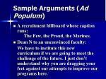 sample arguments ad populum