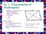 ex 1 using properties of parallelograms11