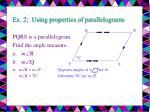 ex 2 using properties of parallelograms13
