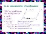 ex 2 using properties of parallelograms14