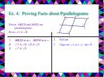 ex 4 proving facts about parallelograms17