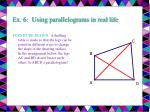 ex 6 using parallelograms in real life