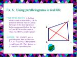 ex 6 using parallelograms in real life27
