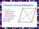 theorems about parallelograms8