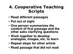 4 cooperative teaching scripts