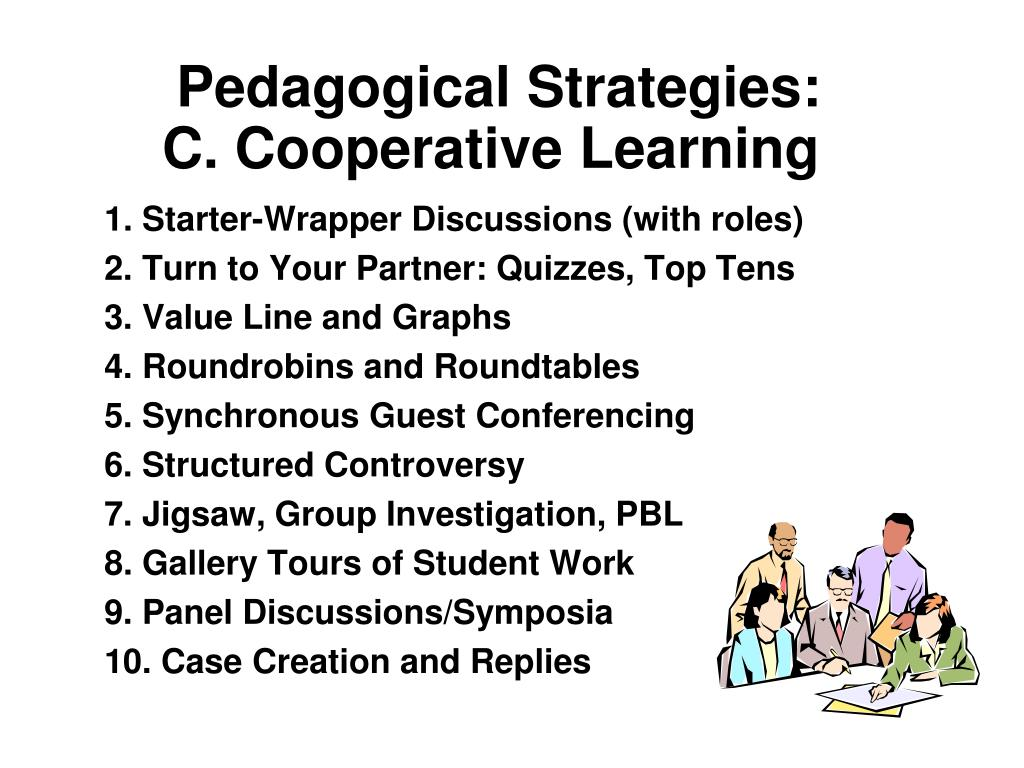 pedagogical strategies c cooperative learning l.