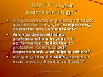 how fit is your professional image19