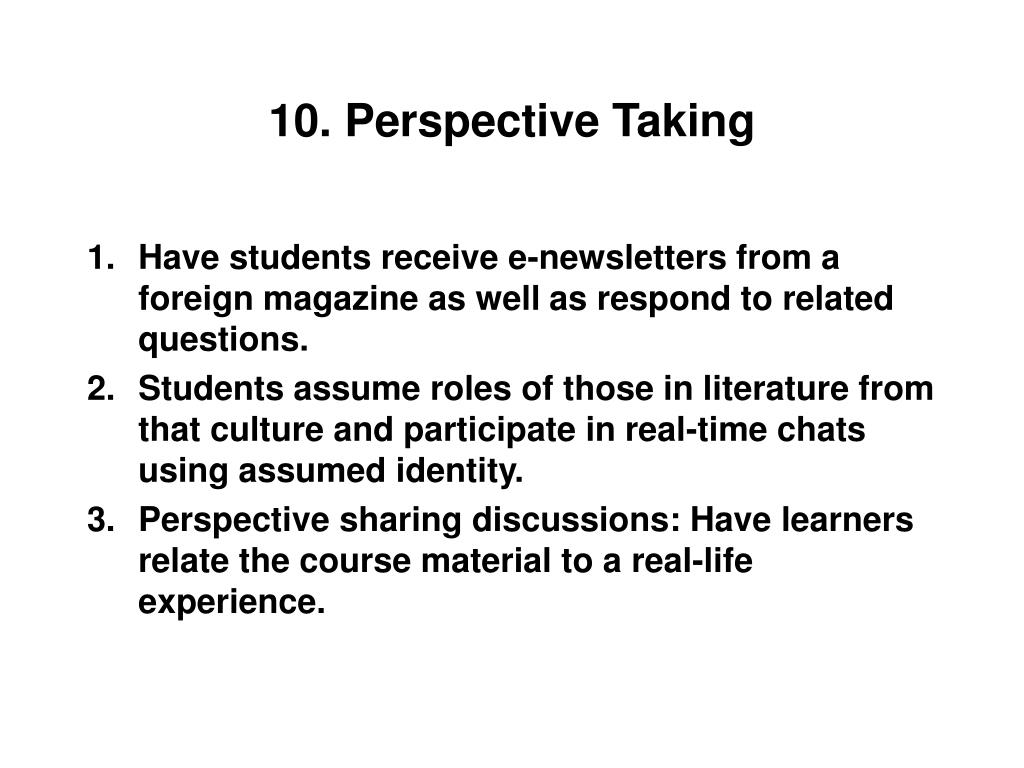 10. Perspective Taking
