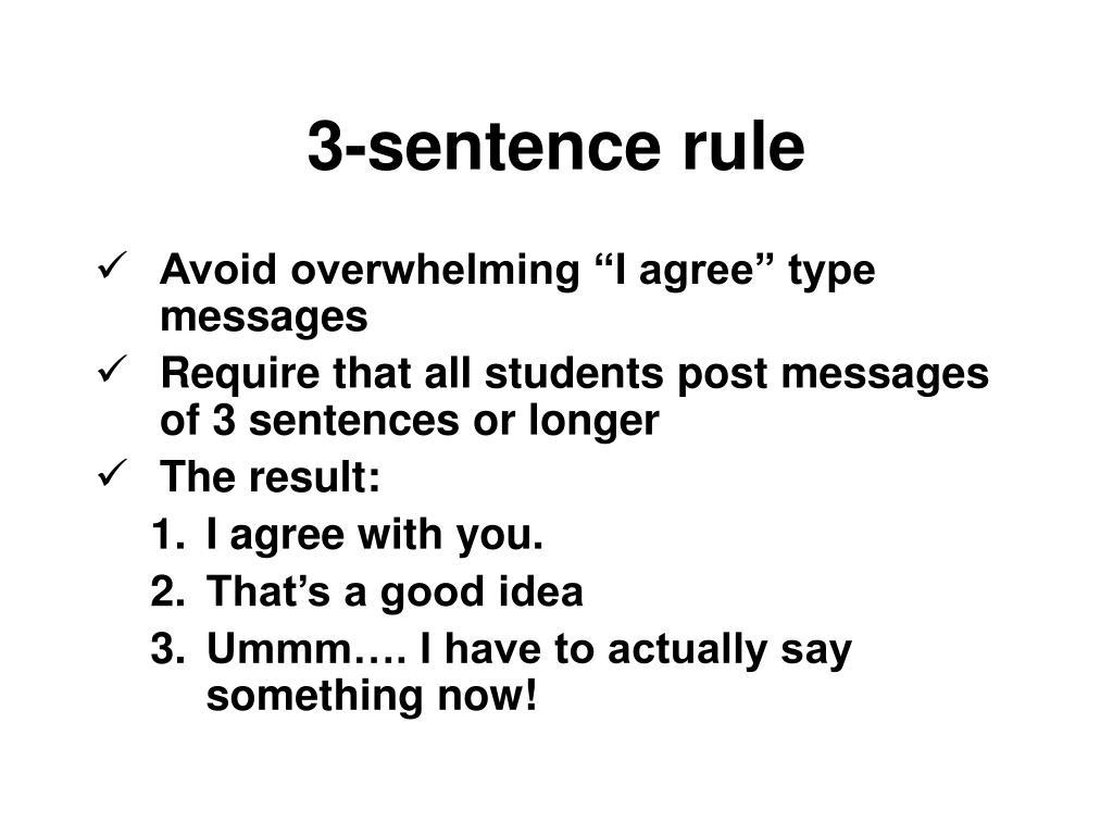 3-sentence rule