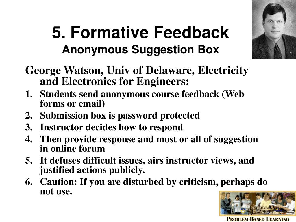 5. Formative Feedback