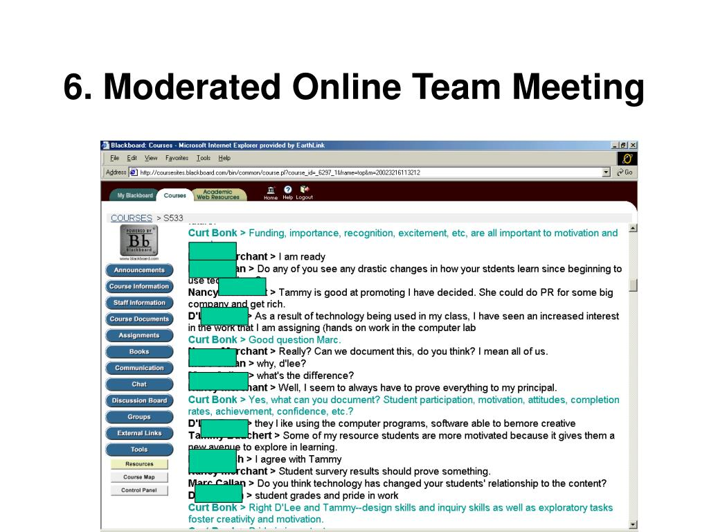 6. Moderated Online Team Meeting