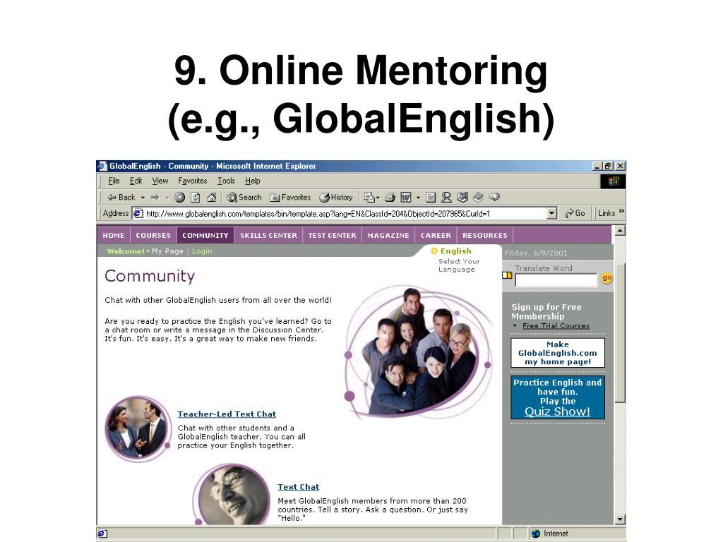 9. Online Mentoring