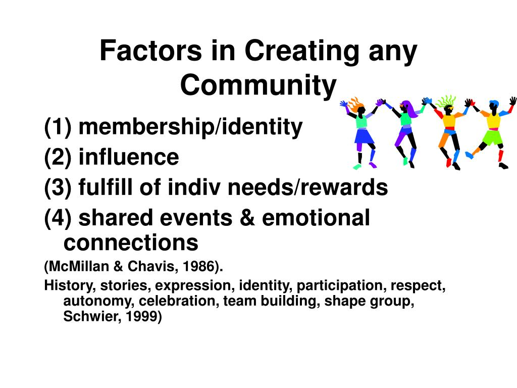 Factors in Creating any Community