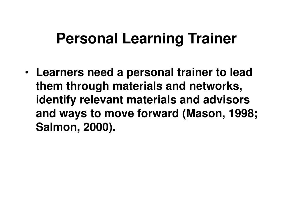 Personal Learning Trainer