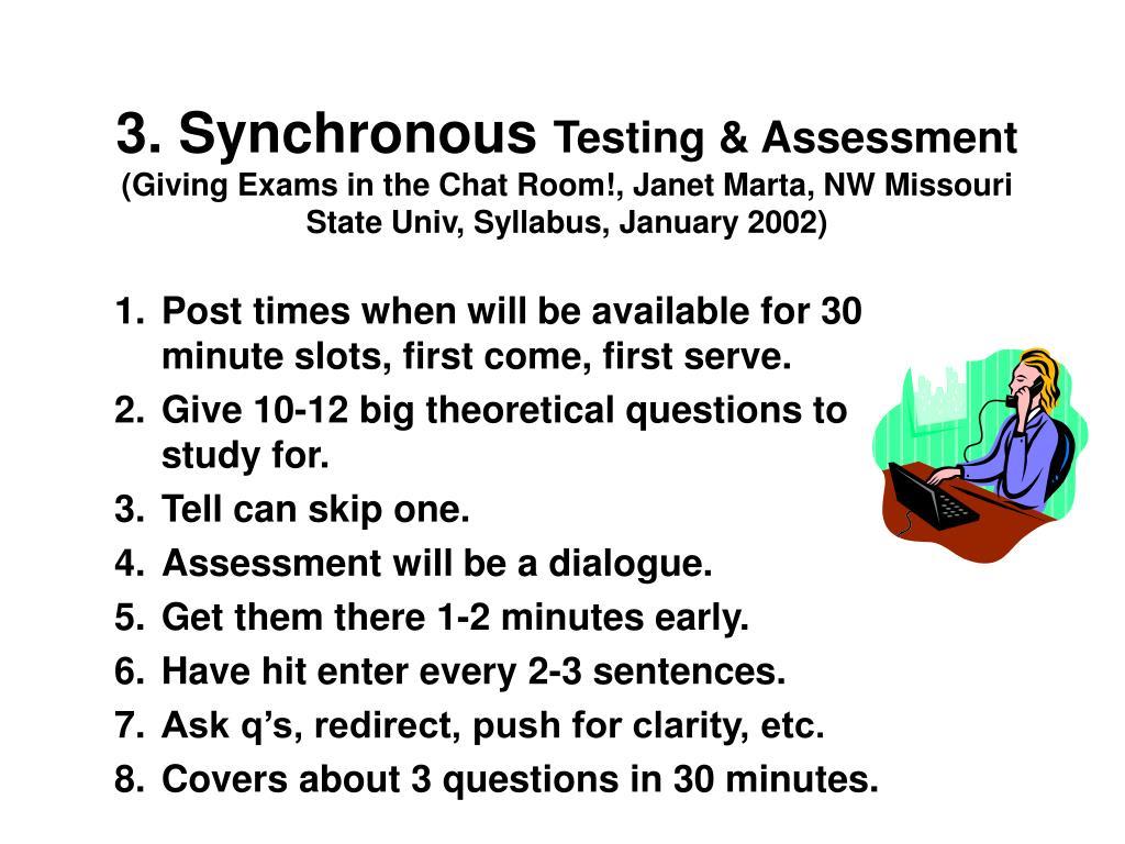 3. Synchronous
