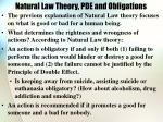 natural law theory pde and obligations