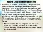 natural laws and individual good