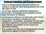 rational intuition and disagreement
