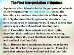 the first interpretation of aquinas
