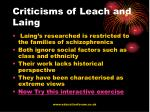 criticisms of leach and laing