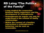 rd laing the politics of the family