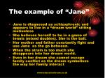 the example of jane