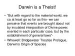 darwin is a theist
