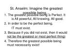 st anselm imagine the greatest possible being