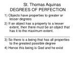 st thomas aquinas degrees of perfection